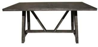 Gracie Oaks Leming Farmhouse Style Trestle Dining Table