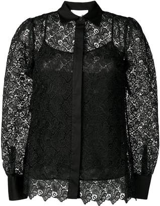 MICHAEL Michael Kors semi-sheer floral lace shirt