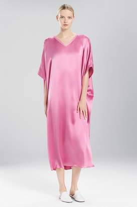 Josie Natori Key Essentials Caftan With Novelty Trim