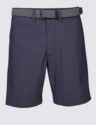 Marks and Spencer Cotton Rich Seersucker Striped Shorts