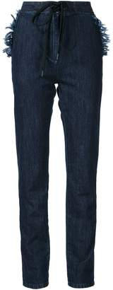 Tomas Maier denim straight leg trousers