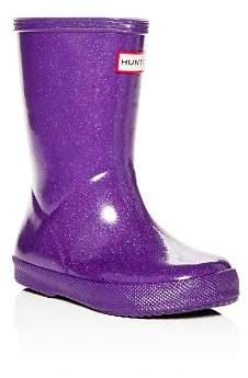 Hunter Unisex First Classic Starcloud Glitter Rain Boots - Walker, Toddler
