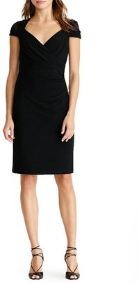 Women's Lauren Ralph Lauren Ruched Sheath Dress $139 thestylecure.com