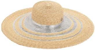 Maison Michel Bianca Lurex Straw Hat