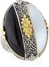 Konstantino Thetis Two-Tone Agate Oval Ring