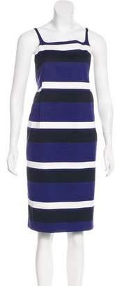 Prada Stripe Knee-Length Dress