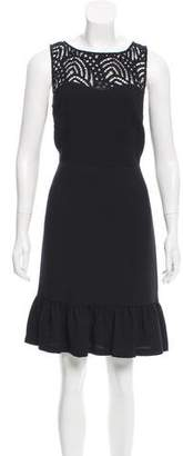 Karl Lagerfeld Sleeveless Lace-Accented Dress w/ Tags