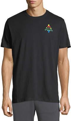 Marcelo Burlon County of Milan Men's Kappa Multicolor-Logo T-Shirt