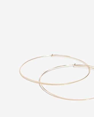 Express Thin Hoop Earrings