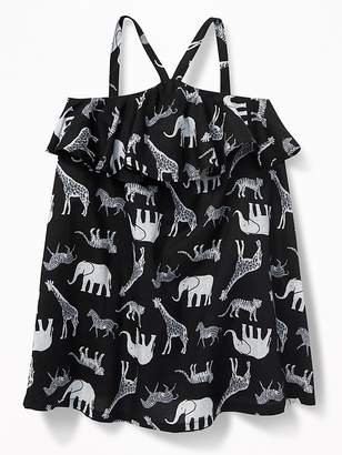 Old Navy Ruffled Safari-Animal Print Sundress for Baby