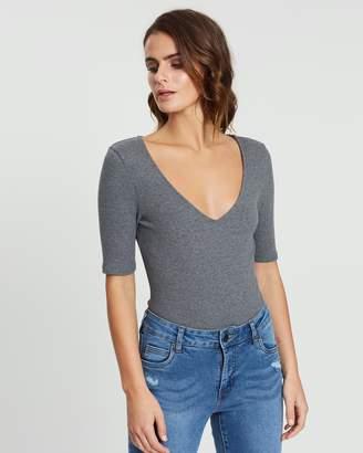 Cotton On Kimi Short Sleeve V-Neck Bodysuit