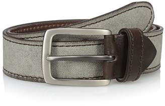 Bolliver Men's Canvas Top - Leather Belt