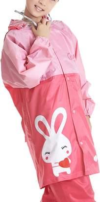 LIVEINU Children Dolphin Rain Suit with Transparent Visor Hoodie M