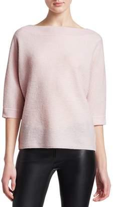 Saks Fifth Avenue Link Stitch Boatneck Cashmere Sweater