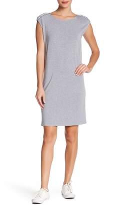 Philosophy Apparel Boatneck Lace-Up Shoulder Dress