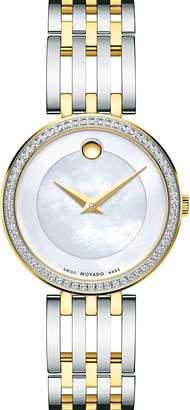Movado Esperanza Diamond Bezel Two-Tone Watch, 28mm
