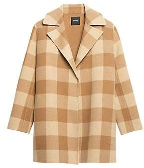 Theory Women's Overlay Wool Check Coat