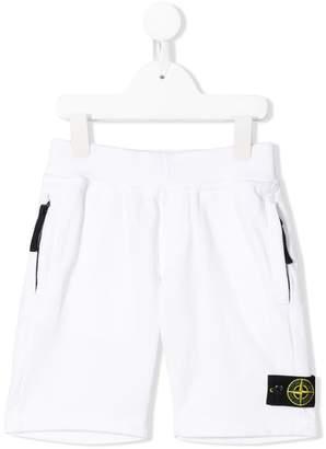 Stone Island Junior casual white shorts