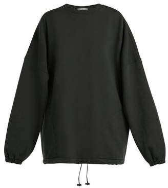 Balenciaga Oversized Cotton Blend Sweatshirt - Womens - Black