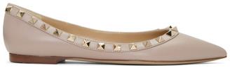 Valentino Pink Valentino Garavani Rockstud Ballerina Flats $745 thestylecure.com