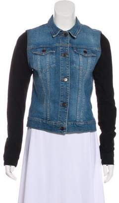 J Brand Suede-Paneled Denim Jacket