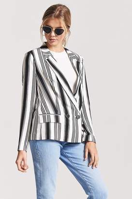 Forever 21 Double-Breasted Stripe Blazer
