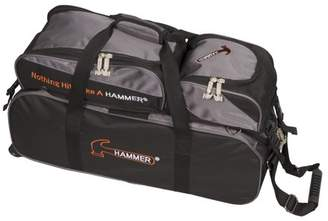 Hammer Bowling Hammer Triple Tote Roller Bowling Bag with Removable Pouch Black/Carbon