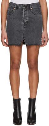 Vetements Black Levis Edition Denim Miniskirt