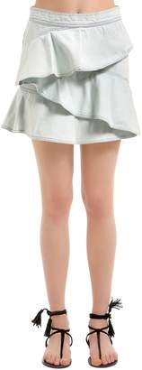 Etoile Isabel Marant Cotton Denim Ruffled Skirt