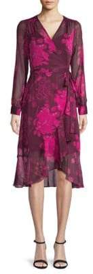 Nanette Lepore Long-Sleeve Floral Wrap Dress