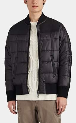 Neil Barrett Men's Leather-Paneled Bomber Puffer Jacket - Black