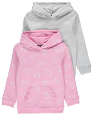 George Pink Unicorn Print Hoodies 2 Pack