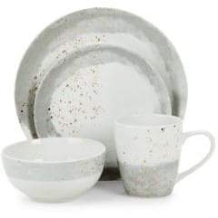 American Atelier Soiree 16-Piece Porcelain Dinnerware Set