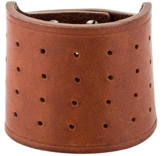 Rick Owens Leather Stud Fastening Cuff