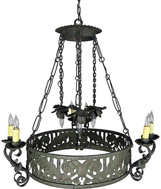 One Kings Lane Vintage 19th C. Spanish Wrought Iron Chandelier