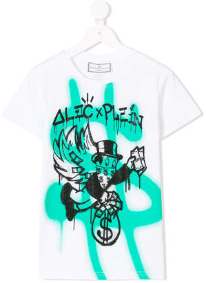 Philipp Plein Junior money print T-shirt