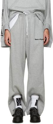 Gosha Rubchinskiy Grey Double Cuff Lounge Pants $185 thestylecure.com