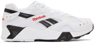 Reebok Classics White and Black Aztrek Sneakers
