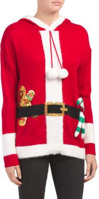 Hooded Santa Christmas Sweater