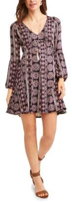 Thyme and Honey Women's Floral V-Neck Dress
