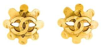 Chanel CC Logo Mask Clip-On Earrings