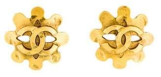 Chanel CC Logo Mask Clip-On Earrings