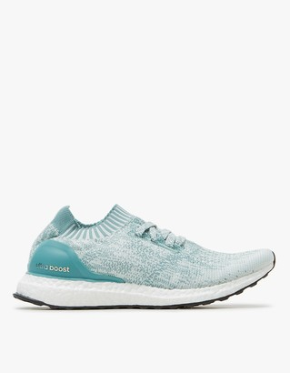 UltraBOOST Uncaged in Crystal White/Vapour Steel $180 thestylecure.com