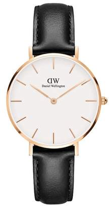 Daniel Wellington Classic Petite Leather Strap Watch, 32mm