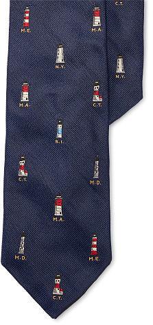 Polo Ralph LaurenPolo Ralph Lauren Lighthouse Silk Narrow Tie