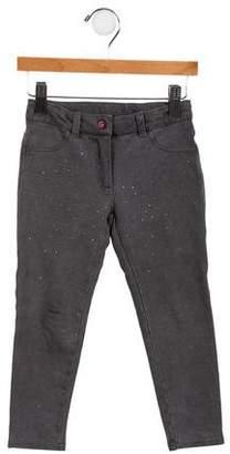 MonnaLisa Girls' Embellished Knit Pants