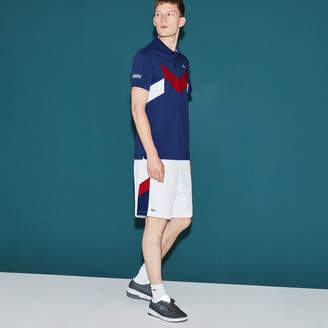 Lacoste Men's SPORT Tennis Colorblock Band Shorts