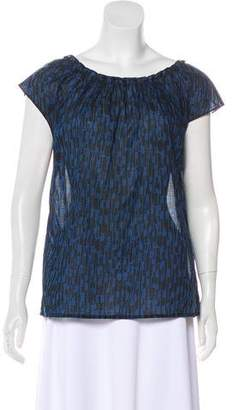 MICHAEL Michael Kors Cap Sleeve Printed Top
