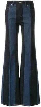 Sonia Rykiel flared patchwork jeans