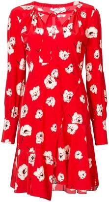Derek Lam 10 Crosby Long Sleeve Shift Dress With Asymmetrical Hem
